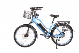 Catalina 48 Volt High Power Long Range Step-Through Electric Beach Cruiser Bicycle - IN STOCK