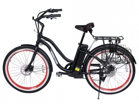 Malibu Elite Step-Through Beach Cruiser Electric Bicycle