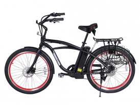 Newport Elite Electric Beach Cruiser Bicycle